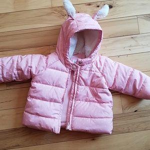 Baby Gap girl coat 6-12 m puffer winter jacket